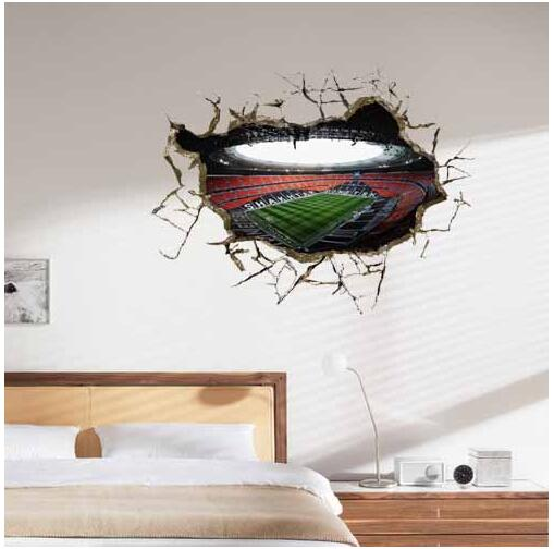 3D Wall Sticker World Cup Painting Kid's Room wall Paintings Bedroom World Cup Wallpaper Home Football Wall Stickers(China (Mainland))
