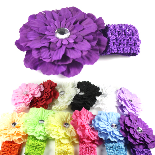 1 pack 12Pcs Beautiful Kids Baby Girl Peony Headband Hairband Hair Silk Flowers Clip Headwear(China (Mainland))