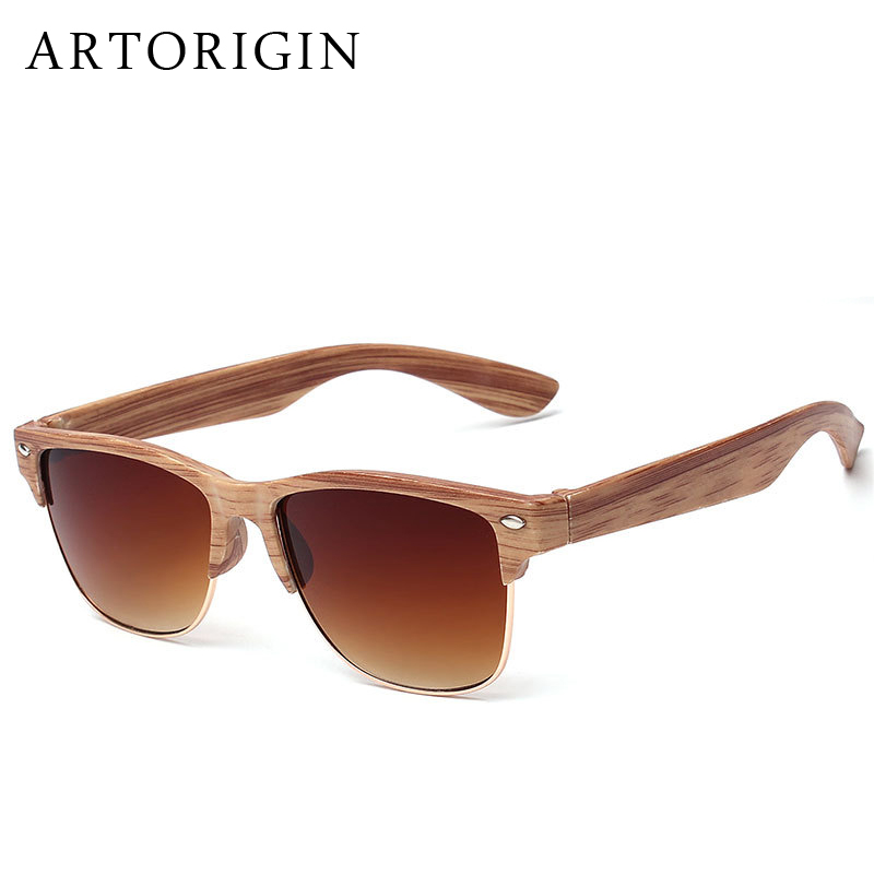 Wooden Frame Glasses Nz : ARTORIGIN Half Frame Wood Sunglasses Women Men Wooden ...