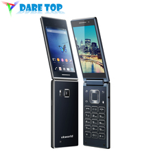 Newest Original Vkworld T2 Dual-Screen Mobile Phone 4.0in FWVGA+IPS 13MP+5MP Camera MTK6580 1.3GHz Quad Core 1GB RAM 8GB Y6M5(China (Mainland))