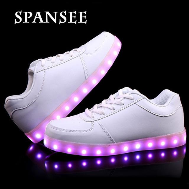 Размер 30-45 Большие Дети Кроссовки для Детей USB обувь с Light Luces светодиодные Тапочки Светящиеся Светящиеся Кроссовки Подростков корзины