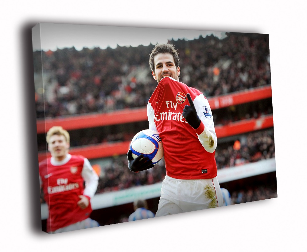 Cesc Fabregas Arsenal Football Sport Solid Wood Canvas Frameless Paints TXHOME D3146(China (Mainland))