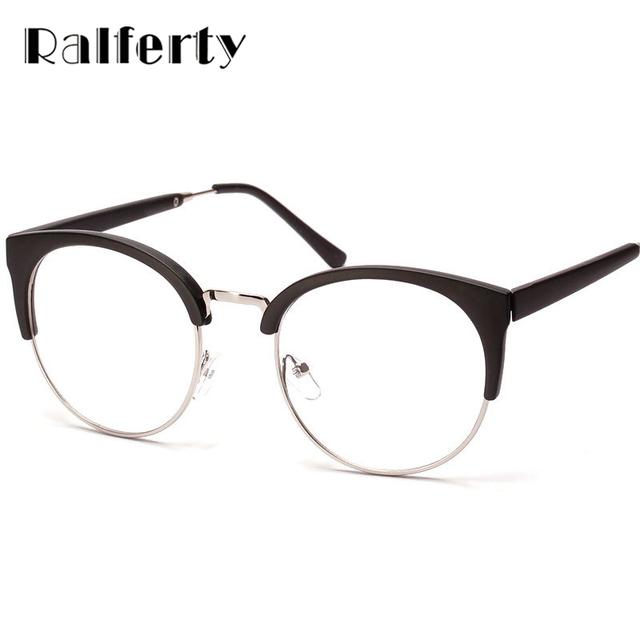 Round Eyeglass Frame With Clear Lens, Oversized Eyeglasses ...