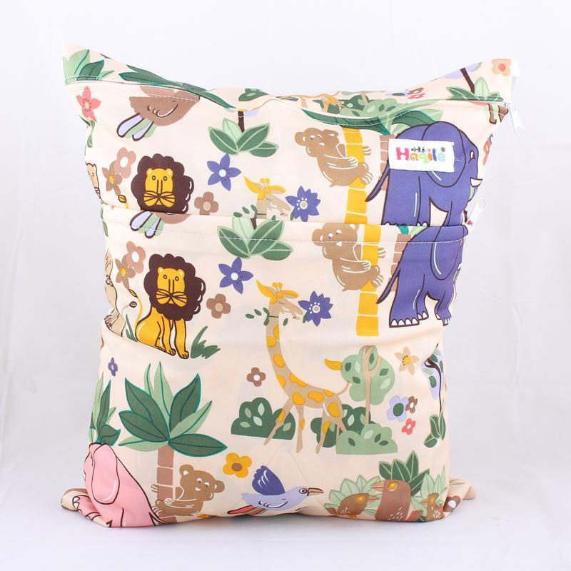Wet Dry Bag With Two Zippered Baby Diaper Bag Nappy Bag Waterproof Reusable Soft Minky Little Birds Retail Wholesale Swimmer(China (Mainland))