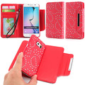 Cell Phone Case For Samsung S6 Phone Case Card Maple Leaves Flower Holder Wallet PU Leather