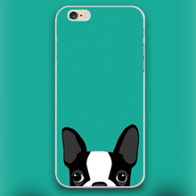 Boston Terrier dog in green Design case cover cell mobile phone cases for Apple iphone 4 4s 5 5c 5s 6 6s 6plus hard shell