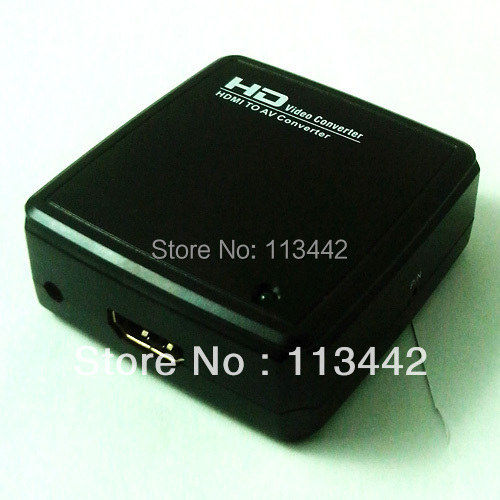 New  HD Video Converter Box HDMI to AV / CVBS L/R Video Adapter +Audio Support NTSC and PAL Output Authorize by Flykan