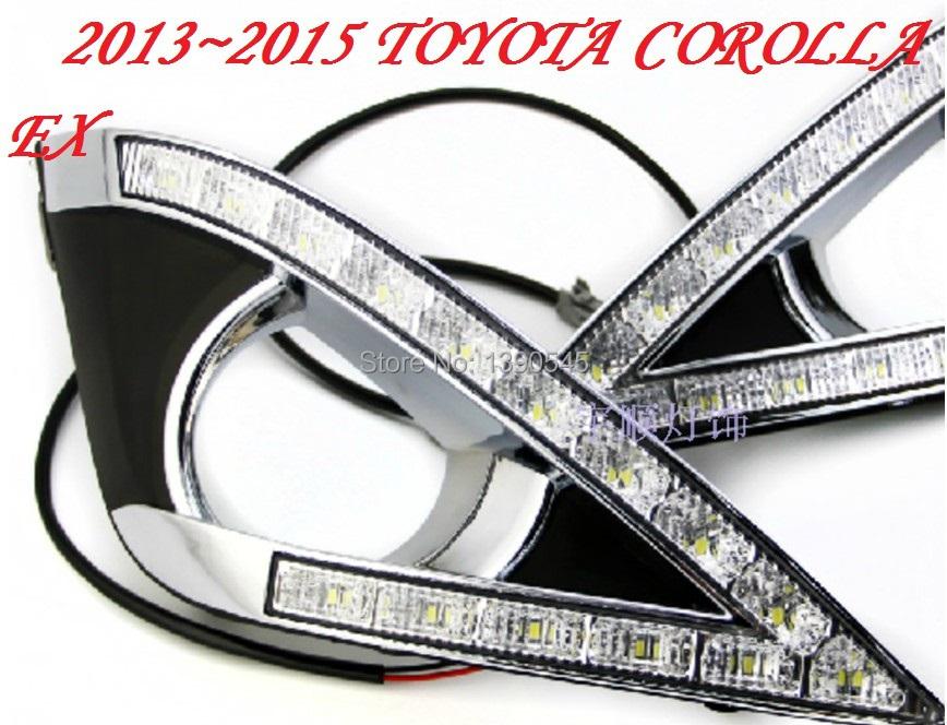 Дневные ходовые огни ! TOYOTA Corolla EX DRL , 2 /+ , ABS, 15W 12V, 6000K;