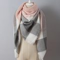 Za Winter Scarf 2016 Brand Square Plaid Soft Cashmere Women Scarf desigual Triangle Blanket Wrap Top