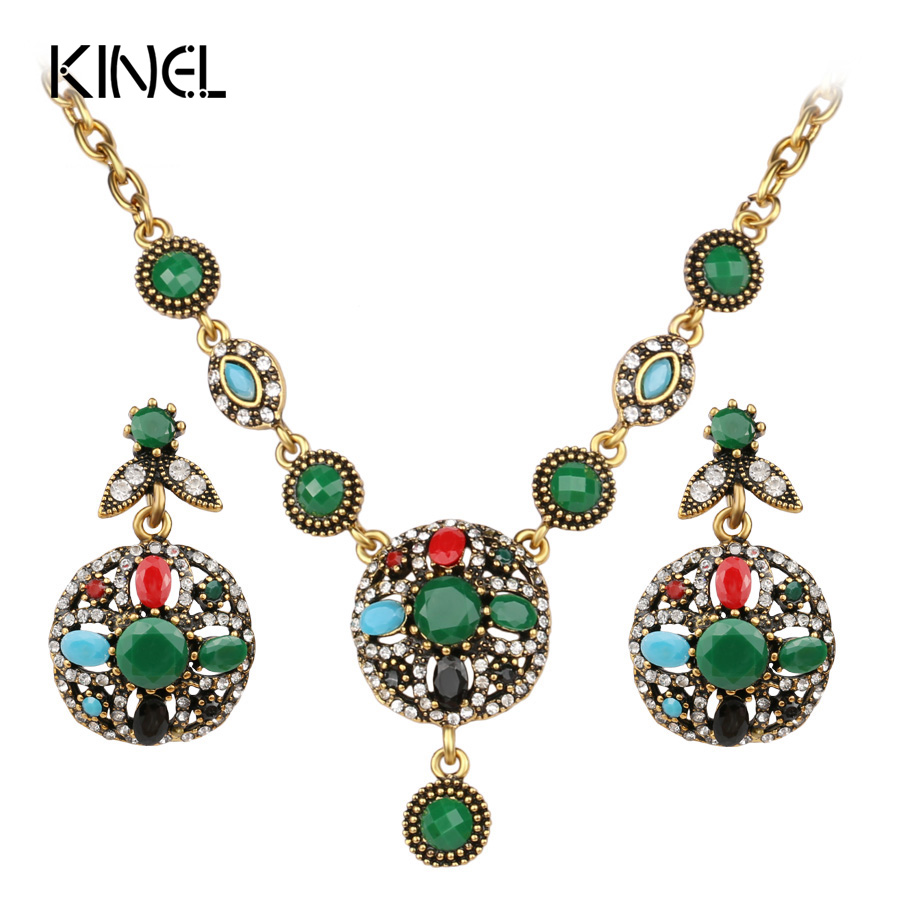 Buy kinel fashion four color flower for Turquoise colored fashion jewelry
