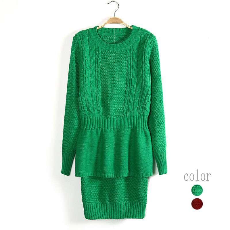 Top Quality new year Europe and the autumnruffled bag hip dress Mao Xiannv sweater 8078 1443557013