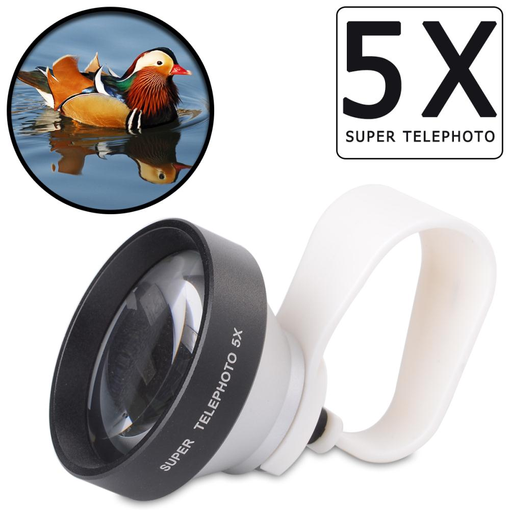 Universal 5X Clip-on Telephoto Camera Lens For Mobile Phone iPhone 4 4S 5 5S 5C 6 Plus HTC Samsung DC583+(China (Mainland))