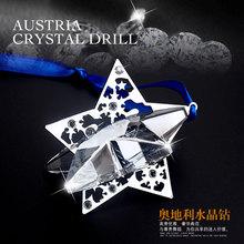 fashion 2016 Christmas Angel Crystal Ball Pendant car car hanging ornaments decoration Pendant Gift 1140008 jewelry(China (Mainland))