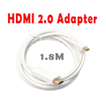 High Speed 1 8M 4K ThunderBolt Mini DisplayPort DP to HDMI 2 0 Adapter Cable