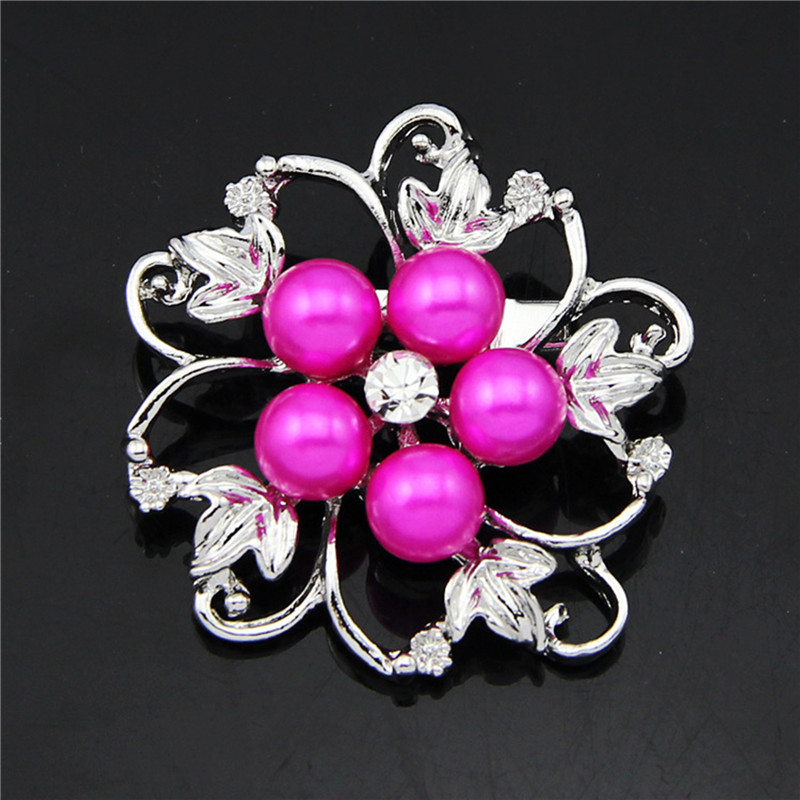 Fashion Silver Color Imitation Pearl Brooches Pins Crystal Brooches Jewelry Rhinestone Brooches for Women wedding jewelry(China (Mainland))