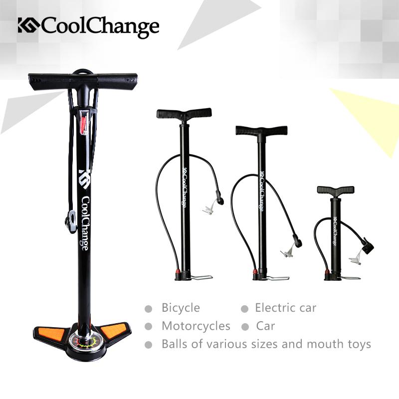 2015 Coolchange High Pressure Pump Bicycle Pump Electric cars Air Pump Cars Air Pump Free Shipping(China (Mainland))