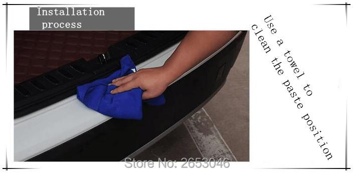 Стайлинга автомобилей черный резиновый арьергард бампер Защитная панель Крышка 10_