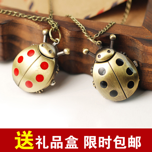 For nec  klace table watch male female form lovers table personality novelty fashion pocket watch new arrival