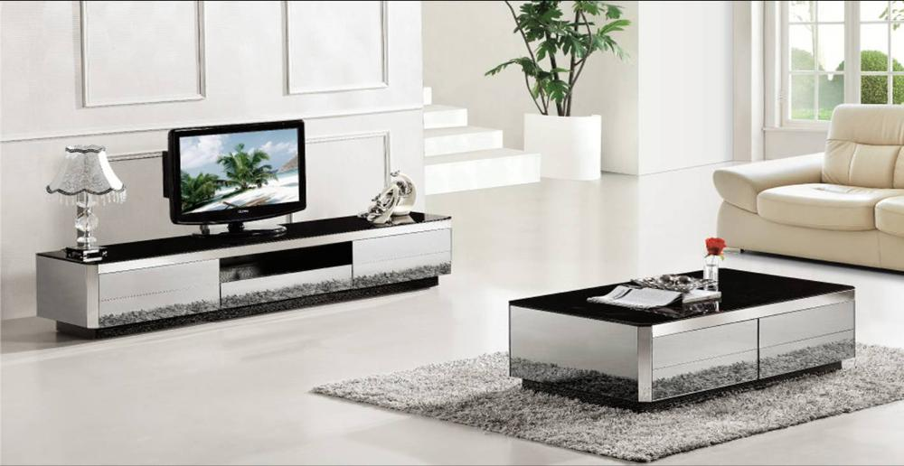 Table basse meuble tv 2 pe a ensemble design moderne for Ensemble salon table basse meuble tv