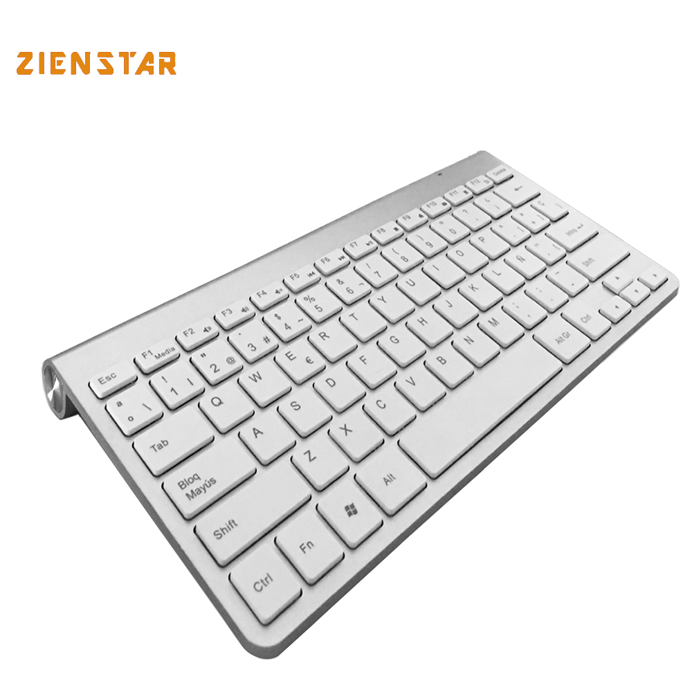 Spanish Language Ultra slim 2.4G Wireless teclado for Macbook/PC computer/Laptop /Android tablet with USB receiver(China (Mainland))