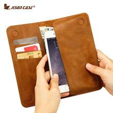 Jisoncase чехол для iPhone 6 6 s 4.7 » бумажник чехол для iPhone 6 плюс 6 s плюс 5.5 » искусственная кожа с карт памяти роскошный телефон чехол