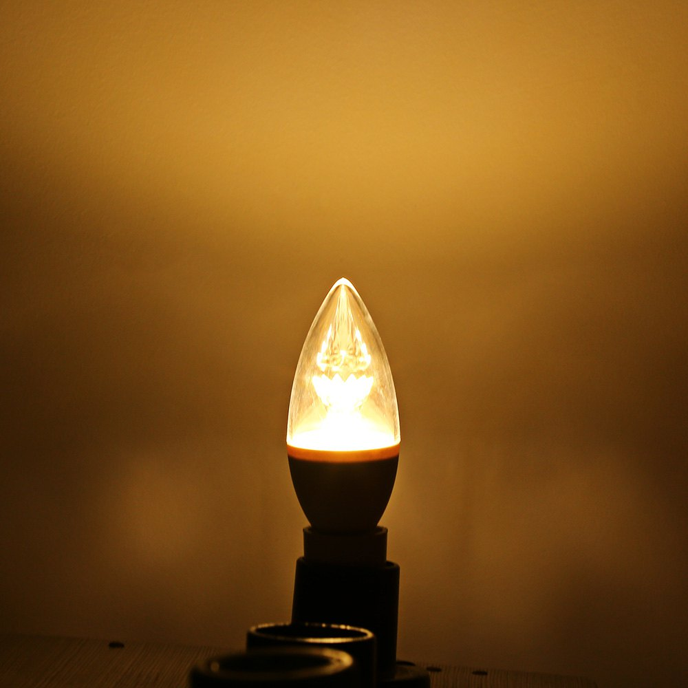 LED Candle Bulbs Lightme 4Pcs 5W 110-240V 420Lm C37 E14 3000K LED Bulbs Commercial Living Room LED Bulbs Environmental Lighting(China (Mainland))