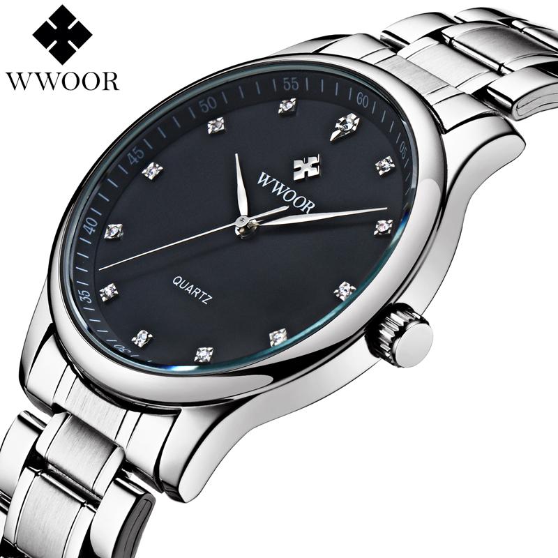 New Arrival Brand Men Watches Men's Waterproof Casual Quartz Watch Diamonds Hour Stainless Steel Sports Wrist Watch Male Relogio