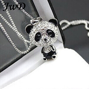 South Korea jewelry wholesale long big panda Pendant Necklace fashionable cute sweater chain photos guitar glow in the dark(China (Mainland))