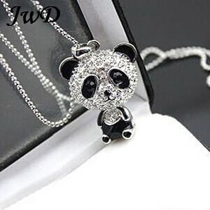 South Korea jewelry wholesale long big panda Pendant Necklace fashionable cute sweater chain photos guitar glow in the dark(China (Mainland))