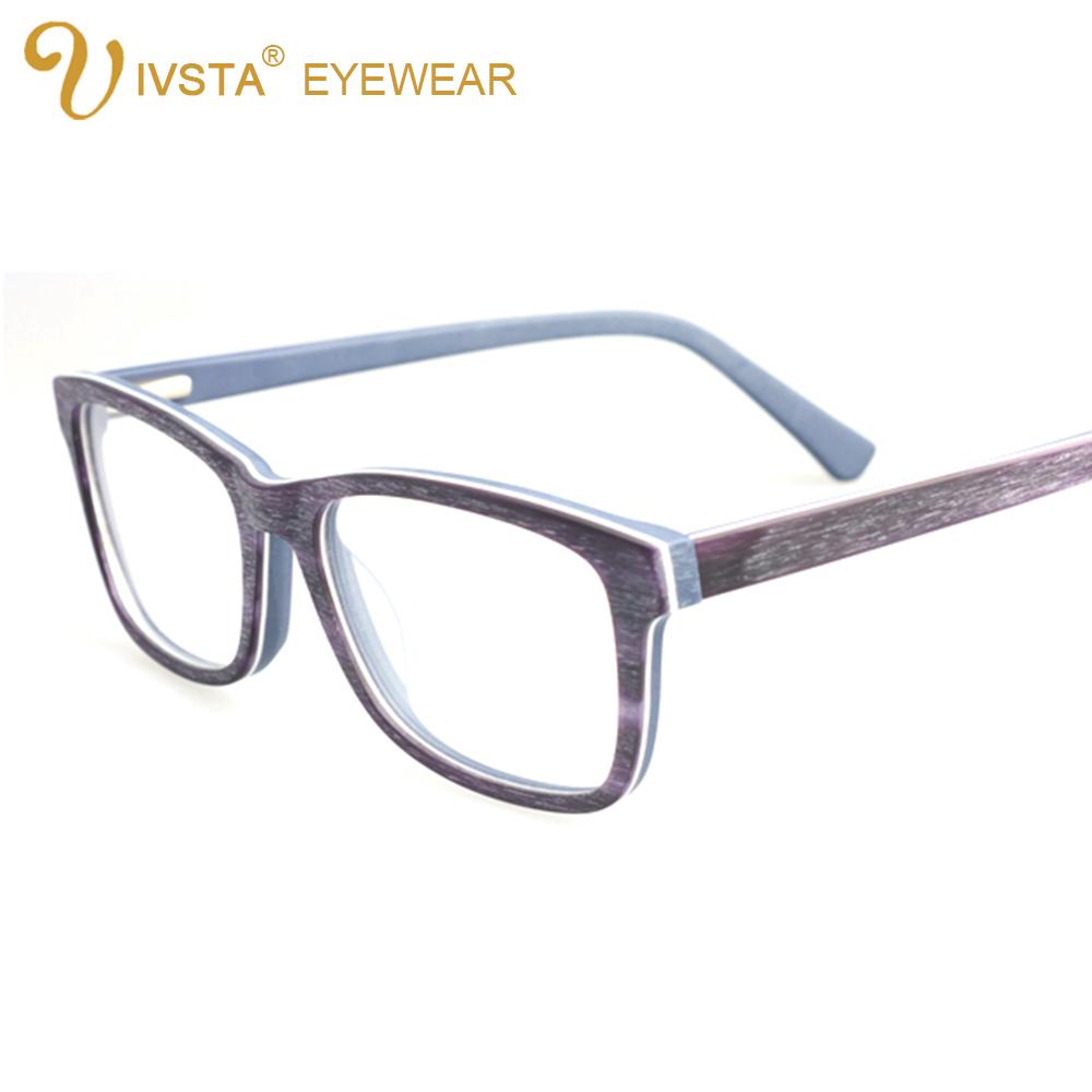 Handmade Glasses Frames : IVSTA Handmade Real Acetate Optical Frame Men Wood Glasses ...