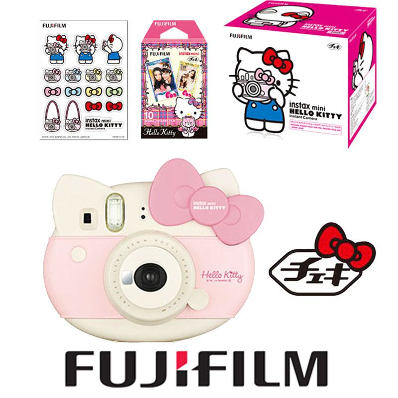 Fujifilm Fuji Instax Instant Mini Lovly Pink Hello Kitty Limited Edition Instant Instax Camera + Mini Hello Kitty Fujifilm Films