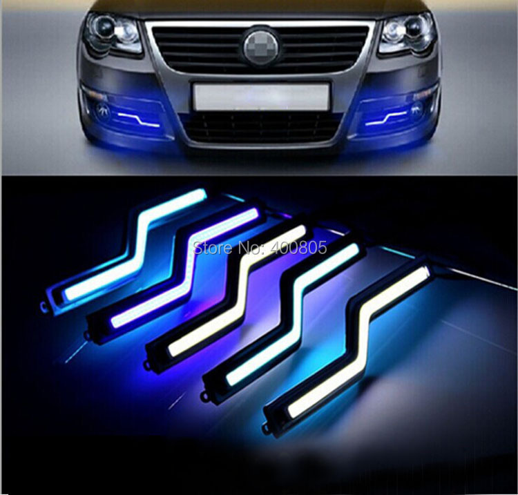 DRL flexible led daytime running light waterproof led fog light DC12v External led car light bar light source parking Head Lamp(China (Mainland))