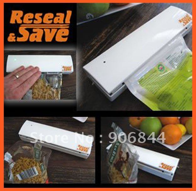 Reseal Save Portable Vacuum Sealer Save Airtight Plastic Bag Preserve Food As Seen On TV Free Shipping
