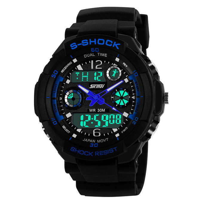 Outdoor Sports Watches Men Led Digital Watch Miliraty Army Men Wristwatches Quartz Watch Swim 30M Waterproof Relogio Masculino(China (Mainland))