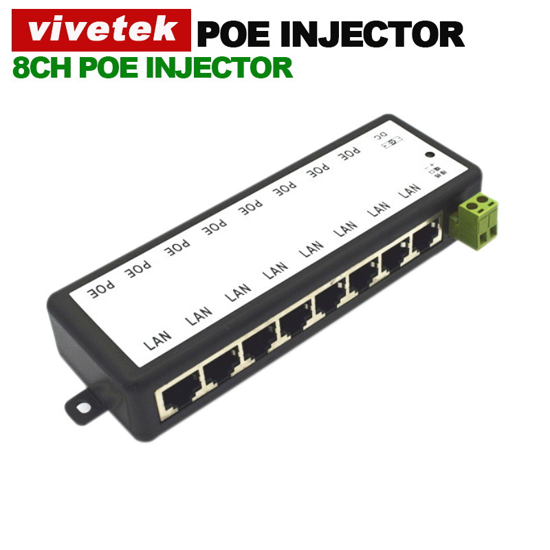 8CH CCTV poe injector for surveillance IP security camera Power over Ethernet Adapter with Shell free shipping(China (Mainland))