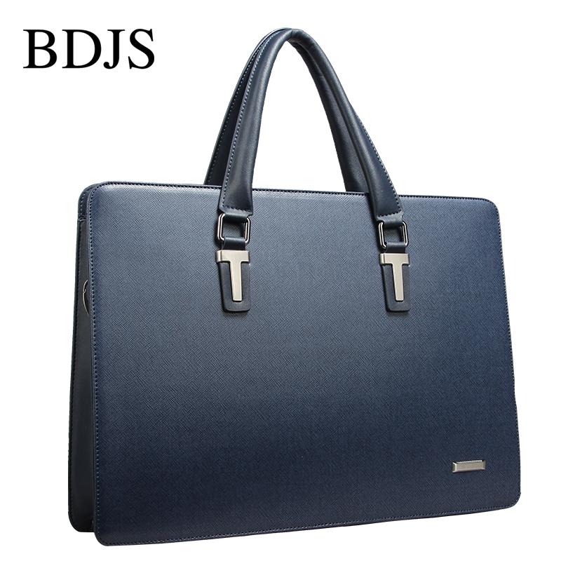 Men Business Genuine Leather Briefcase Black Crossbody Handbags Man Shoulder Laptop Bags Fashion Messenger Bag Male Briefcase(China (Mainland))