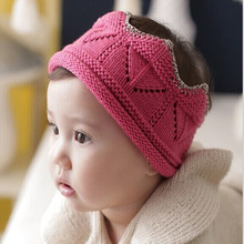 2015 New Arrival Baby Headbands Autumn Dress Hair Accessories Fashion Kids Imperial Crown Acrylic Elastic Bands FQ080