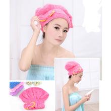 2pcs Hair Hat Microfiber Shower Hair Turban Quickly Dry Hair Hat Towel Bathing Cap Bath Accessories(China (Mainland))