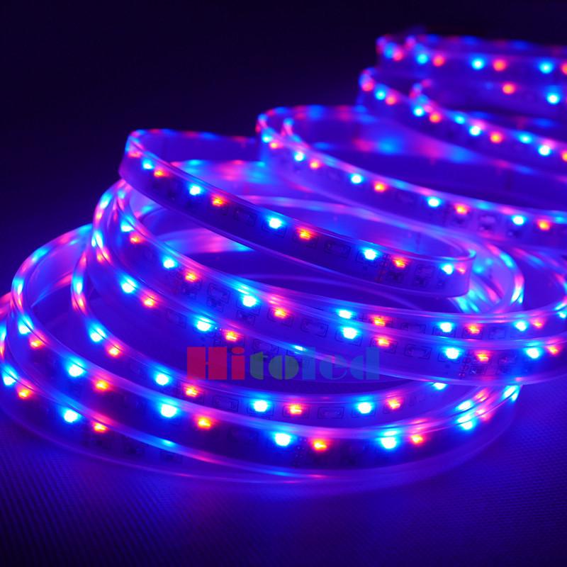5M 120 LEDs/m 600 Side Emitting SMD 335 RGB IP67 Tube Waterproof Flexi LED Strip Light 12V(China (Mainland))