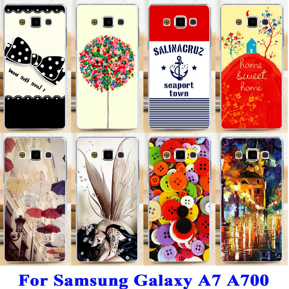 Clothes Buttons Phone Cases Covers For Samsung Galaxy A7 A700 A700F A7000 Skin Shell For Samsung A7 Chocolate Candies Capa(China (Mainland))