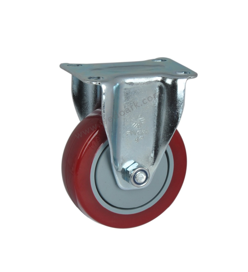 "FIVERI Medium Duty 4"" 125Kg Polyurethane Single Ball Bearing Rigid and Swivel type Industrial Caster Wheel(China (Mainland))"