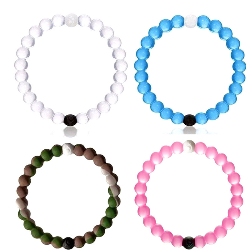 2016 New Fashion Silicone Bracelets For Women Strand Lucky Balance Infinity Power Charm Wristband Ball Femme & Men Accessories(China (Mainland))