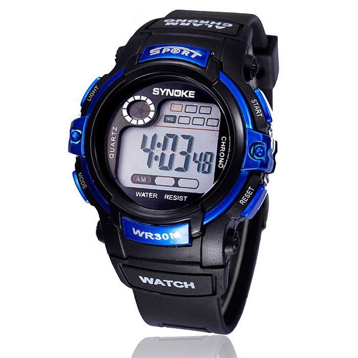 SYNOKE 2015 Hotsell Trustworthy Multifunction Display Boy Digital Watch LED Alarm Date Sport Waterproof WristWatches Free Ship(China (Mainland))