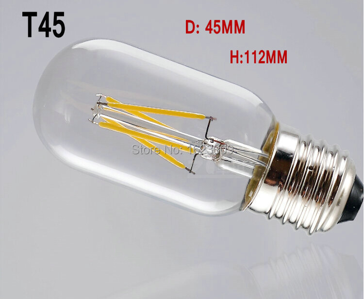 LED Filament Bulb 6W T45 antique Edison bulbs E27 light bulb restoring ancient ways design for water pipe/bedroom/family gift(China (Mainland))