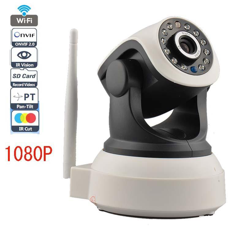 Wifi IP Camera 1080P 2.0MP P2P 2 Way Audio Wireless IP Camera Robot With TF/Micro SD Memory Card Slot Free Iphone Android(China (Mainland))