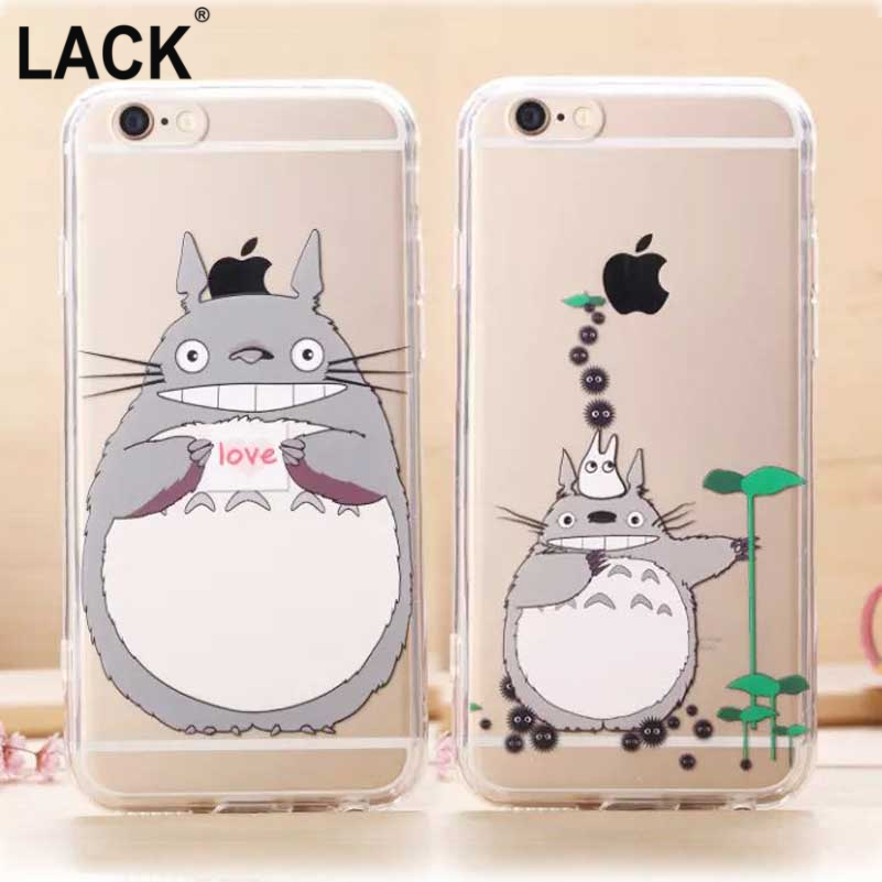 Hot Selling! Soft Acrylic Painting Cute Cartoon Totoro Cover Case Apple iPhone 6 6S 6plus 6s PLUS Cell Phone Cases - one yuan profit store