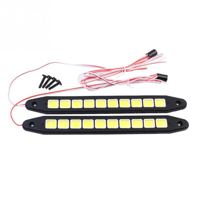 2x Car Auto12V LED COB light DRL Driving Daytime Running Lamp Fog Light White<br><br>Aliexpress