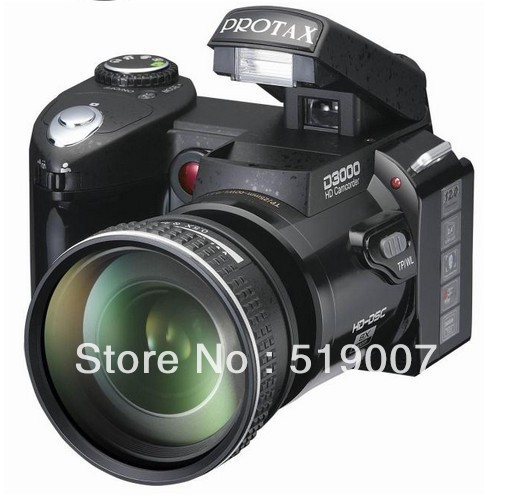 "Digital Camera DSLR D3000+ 16MP 3.0"" LCD,Full-HD,16X Digital Zoom,With  21X Optical Zoom Telephoto Lens&Wide Angel Lens"