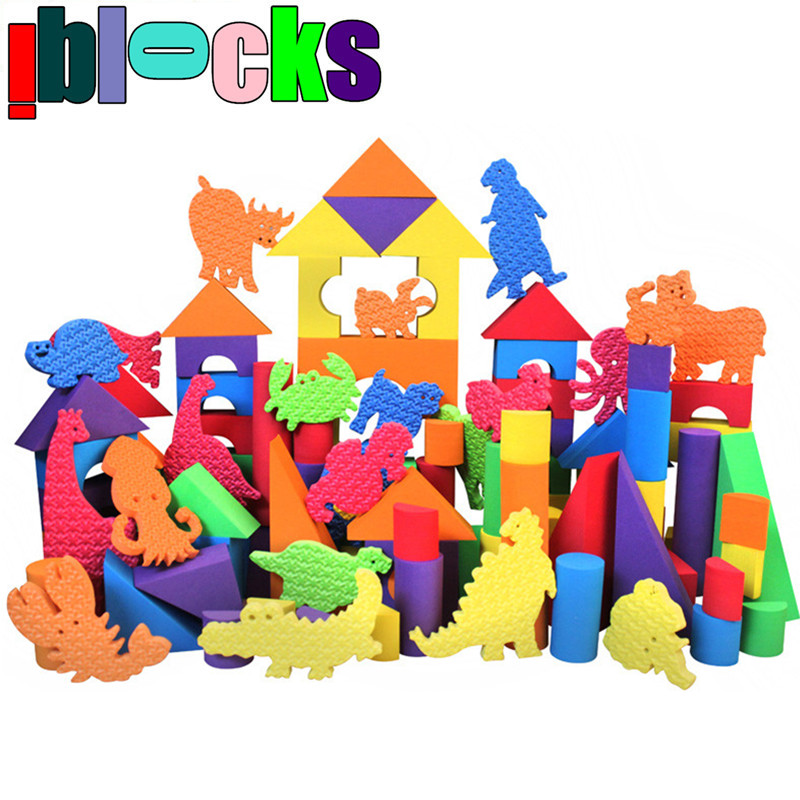 Safe! Large! High Quality DIY Soft EVA Foam Colorful Animal Building Block Toy for 0-4 Years Children Learning and Education Toy(China (Mainland))