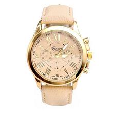 Zegarek dla Kobiet marki GENEVA cyfry rzymskie trzy tarcze skóra